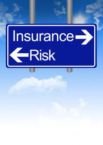 Insurance or risk dilemma on road sign