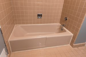 bath shower refinishing - before