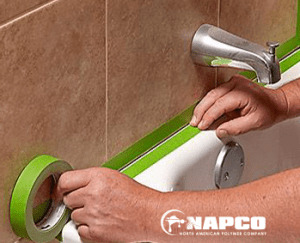 Masking Your Bathroom before Refinishing
