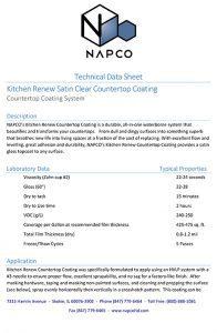 Kitchen Renew Countertop Coating TDS