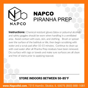 Etch and Cleaner -NAPCO Piranha Prep
