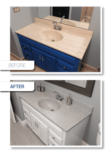 Countertop refinish before and after