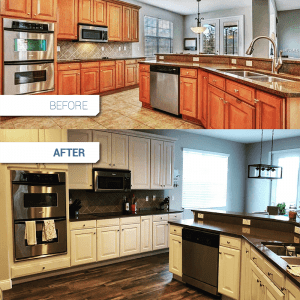 Kitchen refinishing before and after