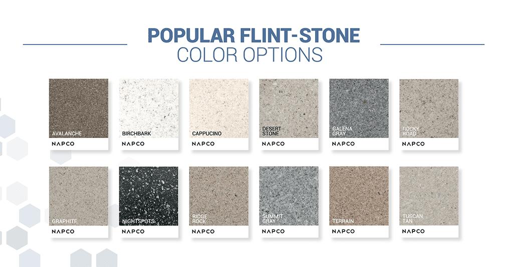 NAPCO Flint-Stone Color Swatches